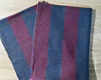 Charming Handwoven Kitchen Towel In Blue, Woven Tea Towel, Dish Towel, Wine And Gray
