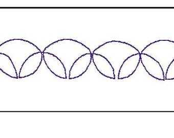 1 inch circle border quilting pattern for your embroidery machine