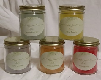 Hand poured Scented Candles