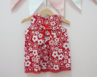 Floral Dress , Flower pattern Dress, 6 months size, Ready to ship