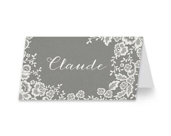 Rustic Wedding Place Card | DIGITAL FILE | Foliage Frenzy | Printable DIY Wedding Invite, Wedding Reception, Name Card - Set of 10