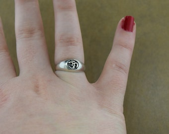 Sterling Silver Ohm Ring