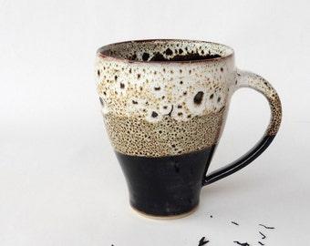 Big speckled brown mug 1, stoneware