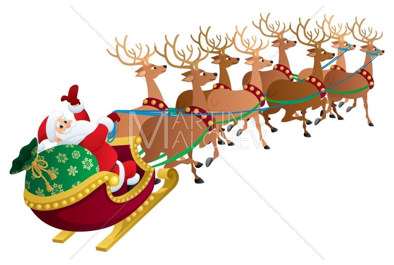 Santa on White Vector Cartoon Clipart Illustration. Santa