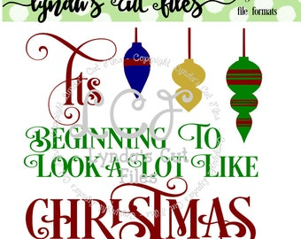 Its beginning to look a lot like Christmas SVG/DXF file