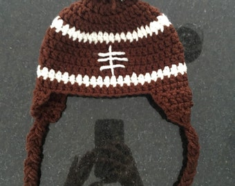 Football beanie with Pom pom