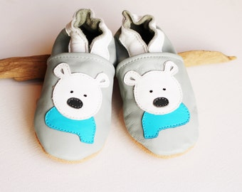 Leather slippers, baby shoes, baby shoes