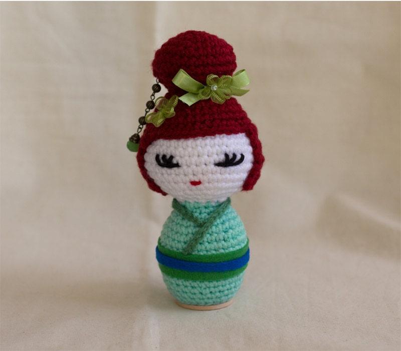 Amigurumi Japanese Doll : Kokeshi doll crochet pattern Japanese doll Amigurumi Japan