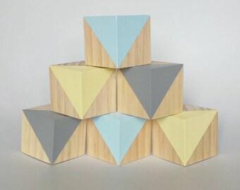 Set of 6 wooden blocks