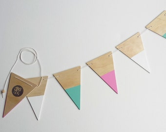 Triangle bunting-watermelon