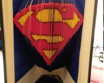 Superman - Book folded colorized