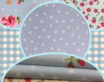 Fat Quarter Bundles 100% cotton - set of 5 per bundle approx 55cm x 50cm