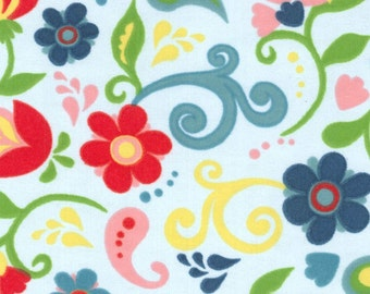 Paisley Floral Flannel Fabric by the Yard