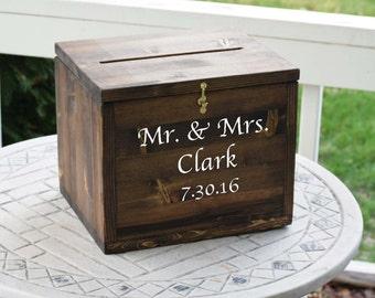 Wedding Card Box, Large Card Box, Rustic Wedding, Wedding Cards, Locking Wedding card Box, Wedding Decor, card box with lock