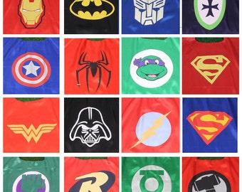 Party Pack 30 Capes -Super Hero Capes, Super Hero costume, Superman, Batman, Robin, Spiderman, Captain America,More, Super Hero party