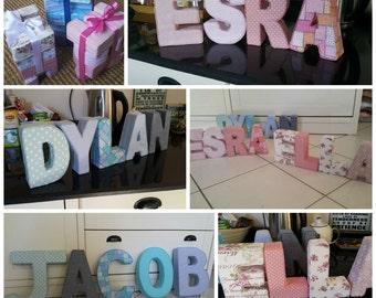 Upholstered Letters