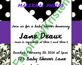 CUSTOM Baby Shower Invitation