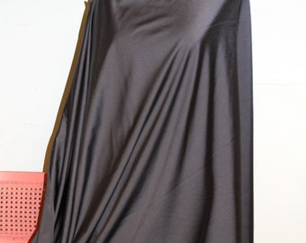 Titanium Gray Shiny Tricot Nylon Spandex Lycra Fabric Bright High Quality 4-Way Stretch Dark Grey