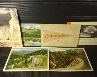 vintage postcards Colorado Rocky Mountains Denver Red Rock group of 6