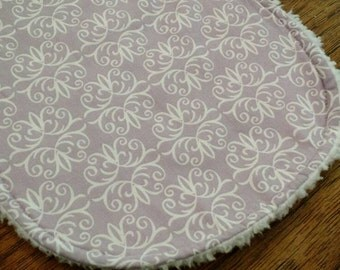 Lavender Burp Cloth
