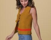 Vintage Knit Vest // Handmade Wool Vest // Vintage Sweater Vest