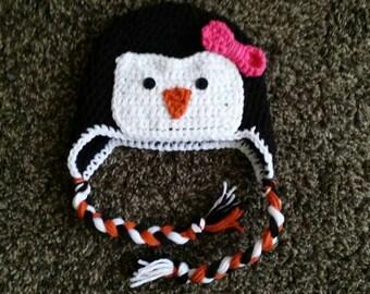 Penguin hat/crochet penguin hat/Penguin Crochet