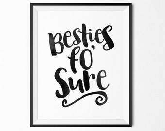 Kids room art printable, baby room art nursery decor, Besties print, baby shower gift, printable wall art, printable quotes, quote prints