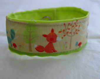 Children's Grosgrain Cuff Bracelet / Foxes and Owls