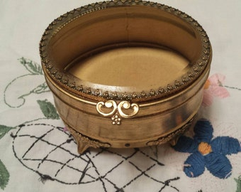 Gold Tone Jewelry Box
