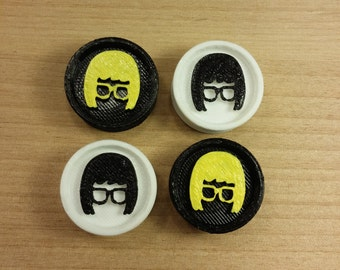 3D Nerd Girl Plugs 3D Printed