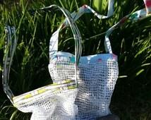 Children's treasure collecting bags beach woodland autumn nature walk finds scavenger hunts beachcombing educational