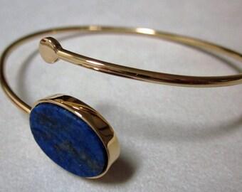 Bracelet 18K yellow gold, lapis lazuli