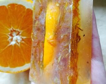 Orange, honey and calendula organic bar soap