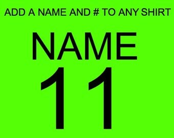 Add a name and number