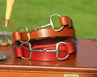 Snaffle Bit Bridle Leather Belt