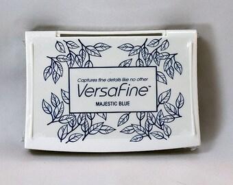 VersaFine Ink Majestic Blue - Blue Ink - Archive Ink - Blue Archive Ink - Permanent Blue Ink - Pigment Ink - Blue Pigment Ink
