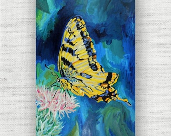 Butterfly Painting Print Canvas Art from Butterfly Fine Art Canvas Painting - Art Print