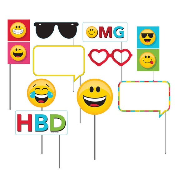 Emoji Photo Booth Props for Kids