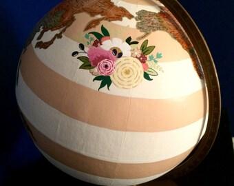 """Custom, Hand-Painted 12"""" Globe"""