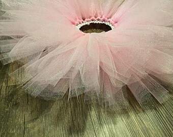 Light pink sparkly baby tutu