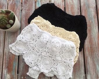 Crochet Booty Shorts