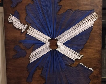 Scotland String Art with Flag