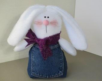 Jean pocket Stuffed Bunny