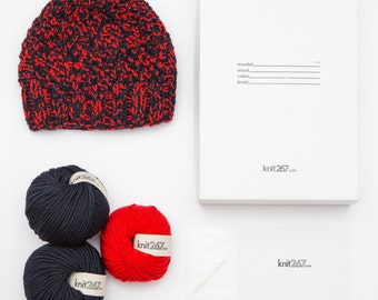 DIY Kit Hat 100% Italian Merino - 2color
