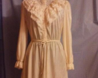 Ruffles and lace long sleeve dress