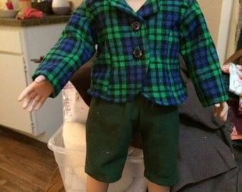 Green plaid blazer