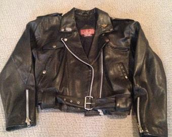 Vintage Leather Motorcycle Jacket