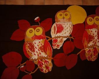 OWLS - Wall hanging - Tapestry - Scandinavian - RETRO - 60/70s - Smashing Colors