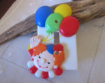 Vintage Switch Cover Clown Light Cover Nursery Decor Switchplates