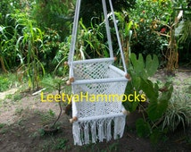 Baby cotton chair swing macrame/ Nicaraguan handmade baby chair macrame/Baby hanging chair macrame/Baby furniture /Happy mom and baby/ gift/